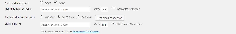 Imap/POP3 Mailbox Settings - WordPress Mailing Group - ListServ